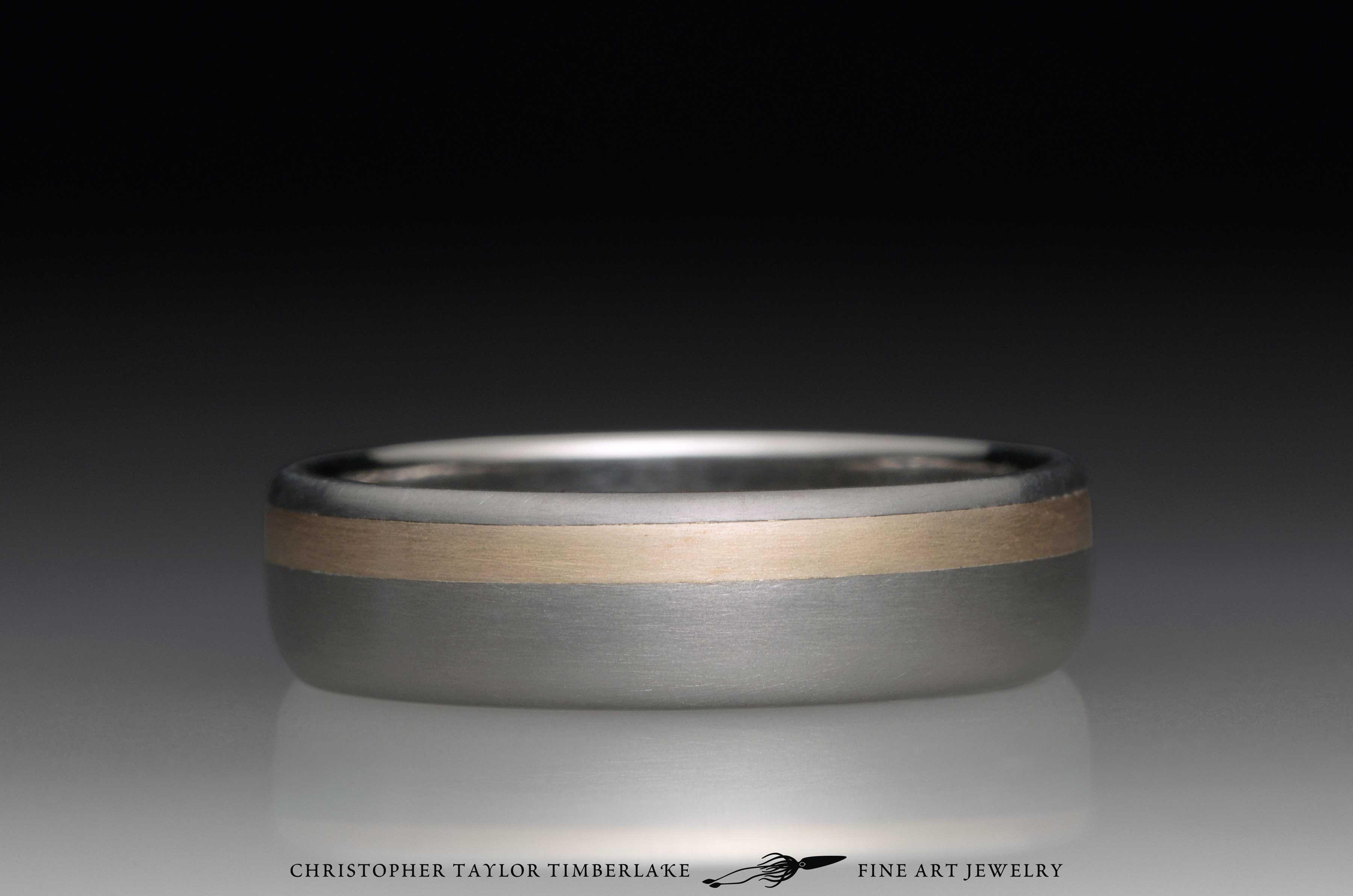 Titanium and 14K Yellow Gold Ring 1