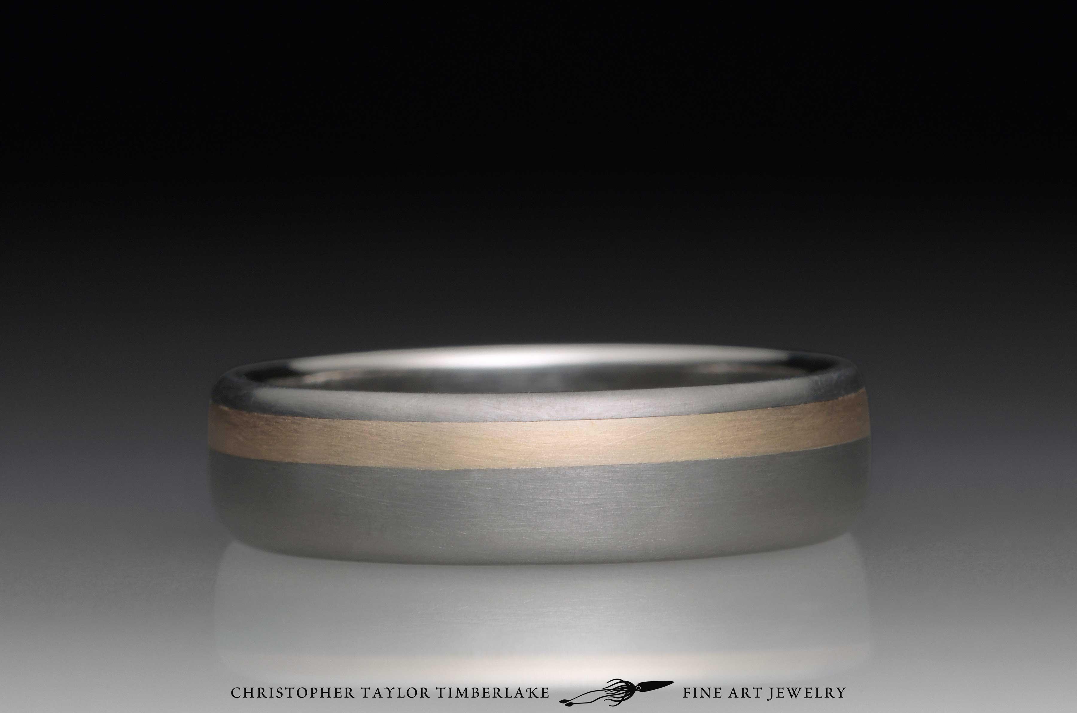 Titanium and 14K Yellow Gold Ring 2