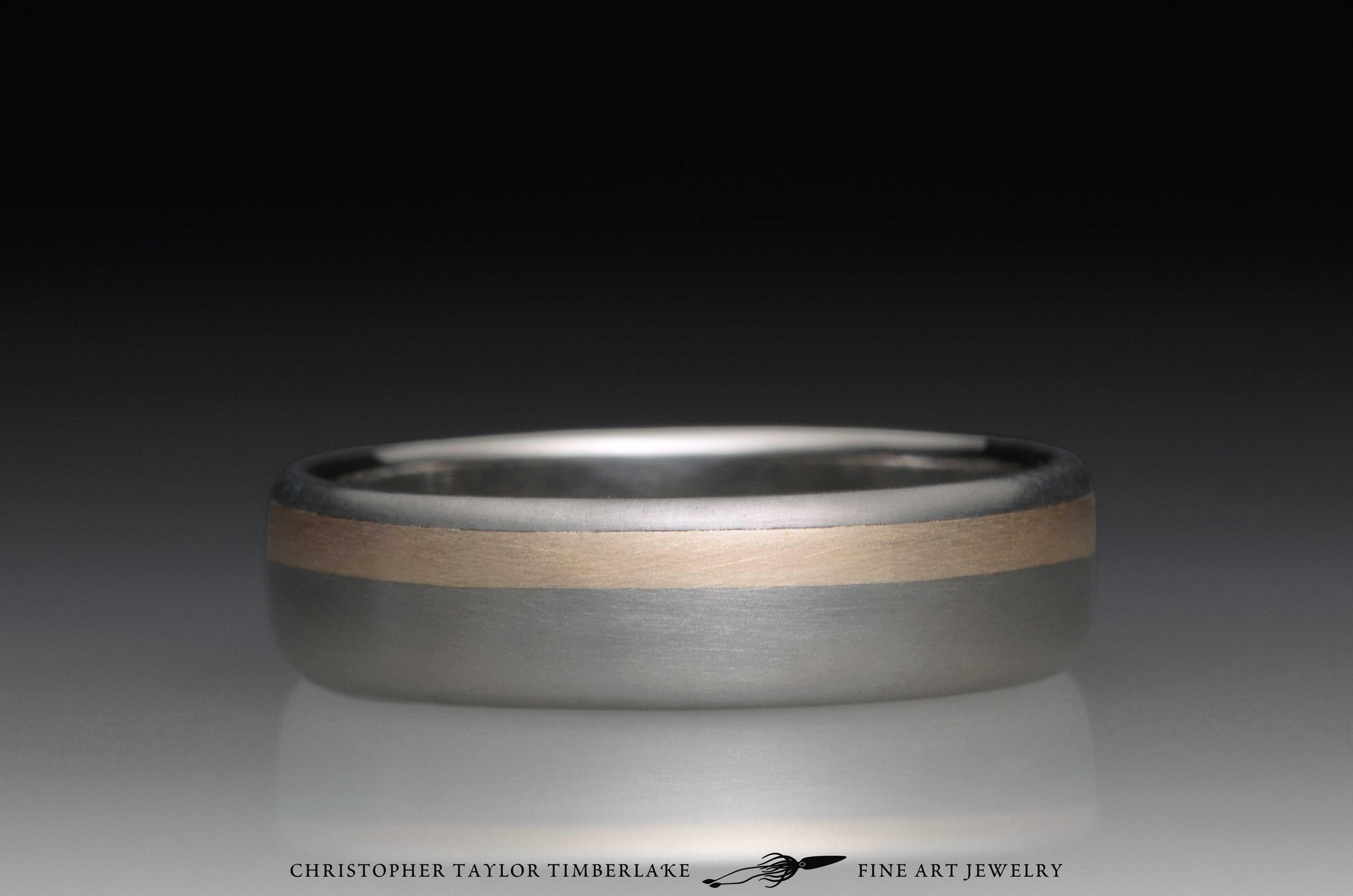 Titanium and 14K Yellow Gold Ring 3